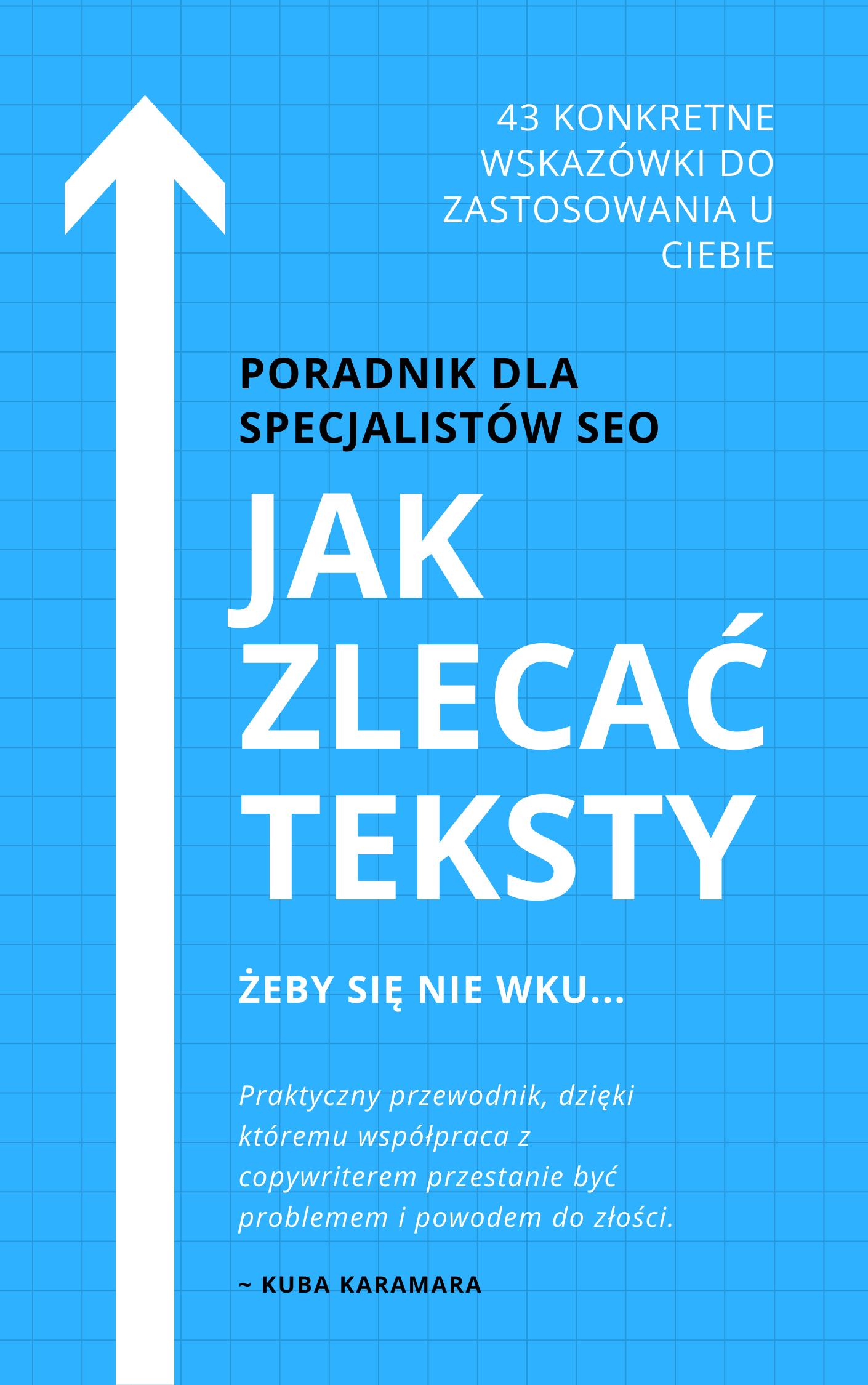 Jak zlecać teksty copywriterom - darmowy ebook dla specjalistów SEO do pobrania